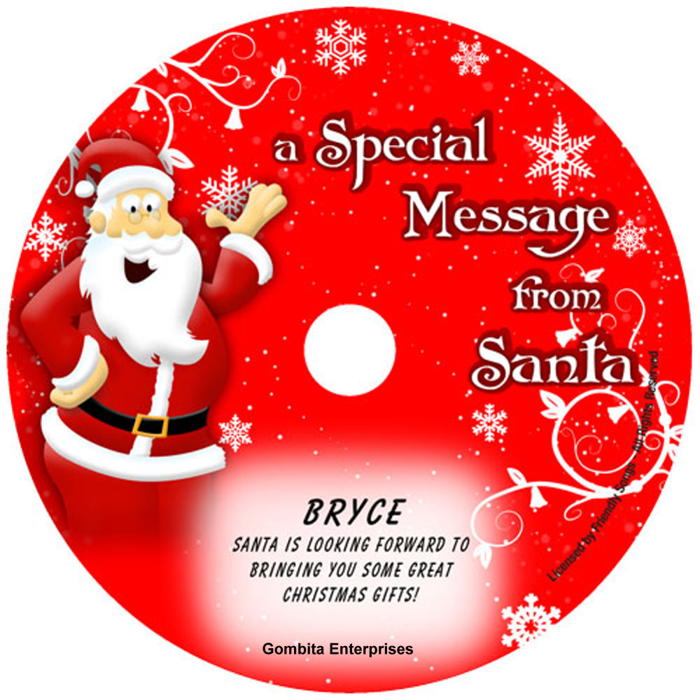 Friendly Songs® Message From Santa - CD