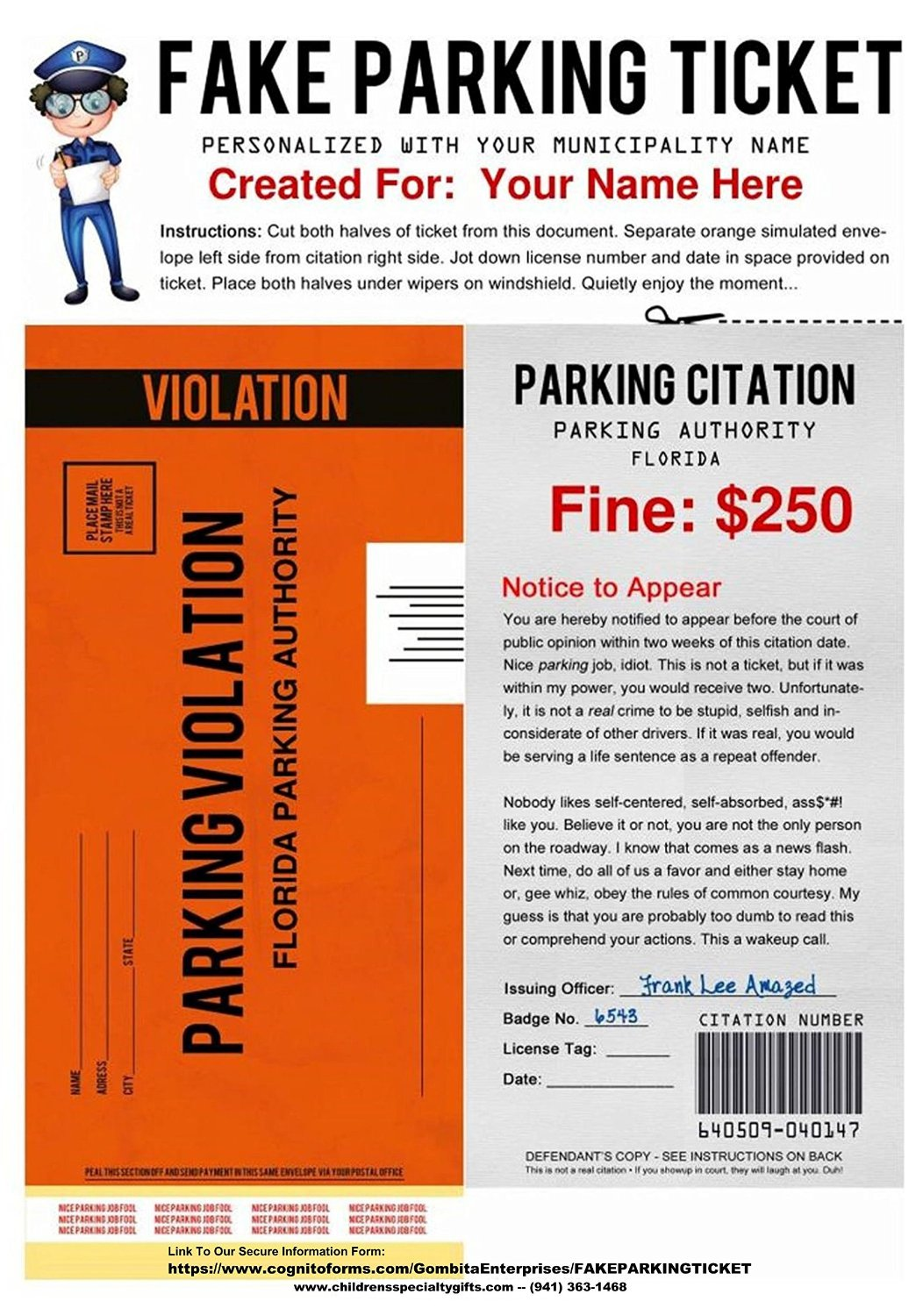 fake parking ticket pdf download to email. Black Bedroom Furniture Sets. Home Design Ideas