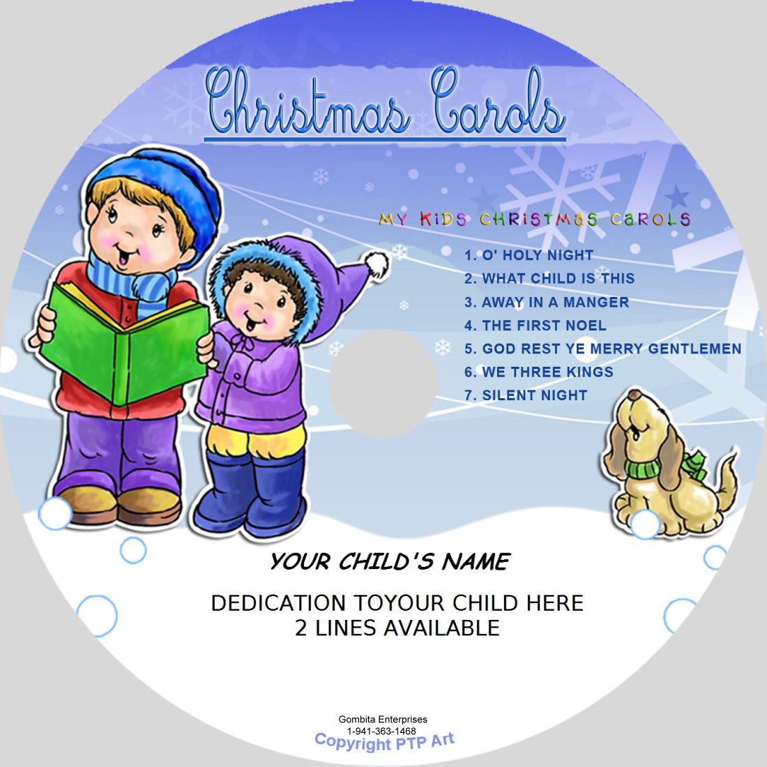 Christmas Carols (Blue) - My Kids Songs - CD Disk & MP3 Download