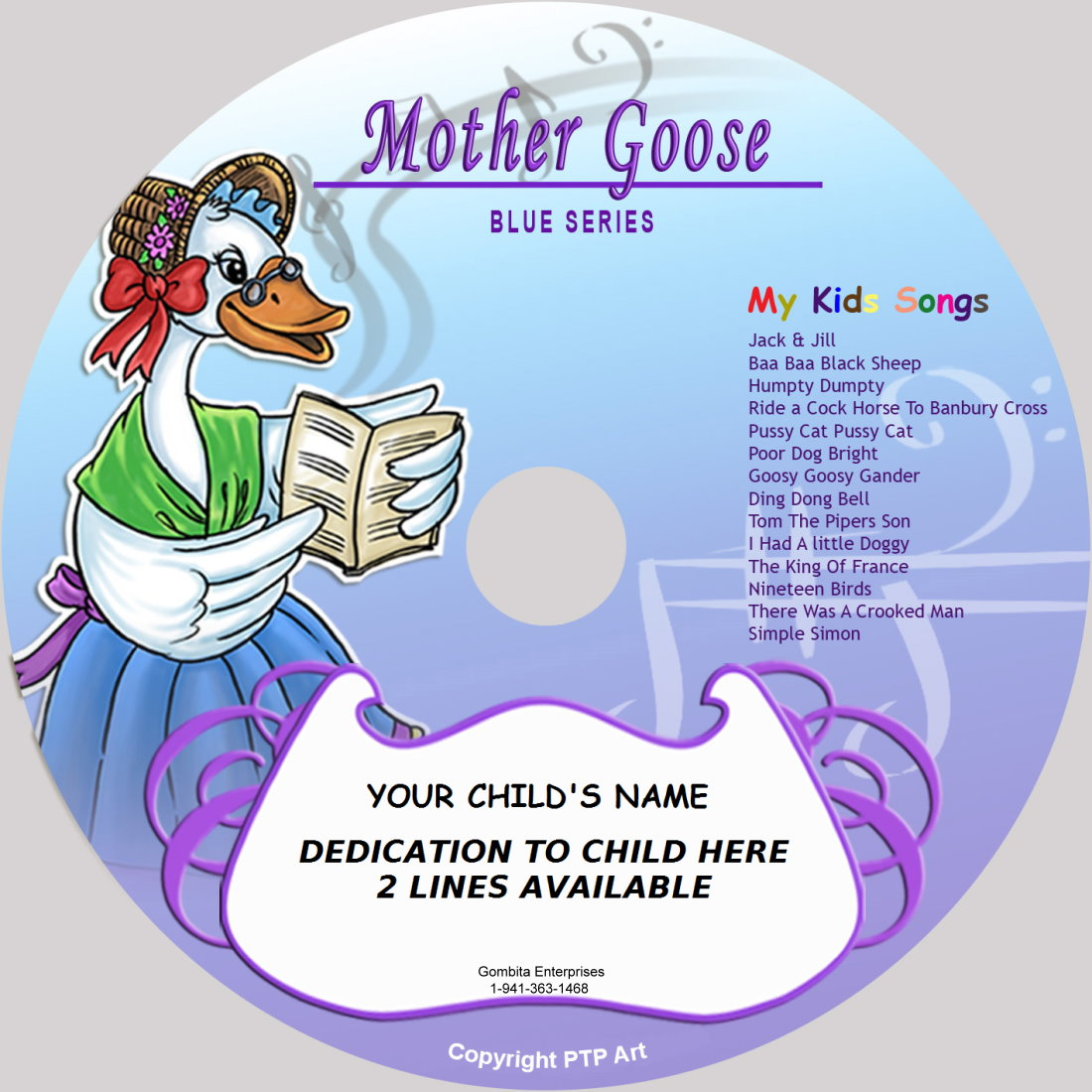 Mother Goose (Blue) - My Kids Songs - CD Disk & MP3 Download