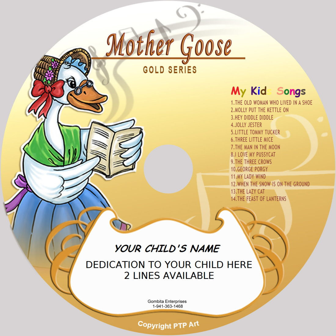 Mother Goose (Gold) - My Kids Songs - CD Disk & MP3 Download