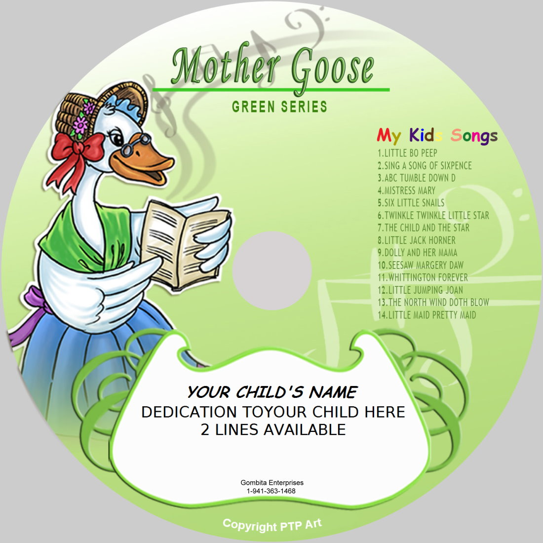 Mother Goose (Green) - My Kids Songs - CD Disk & MP3 Download