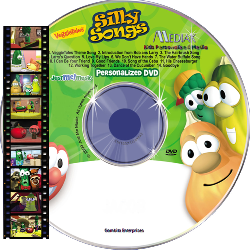 SILLY SONGS WITH VEGGIE TALES NAME PERSONALIZED CHILDREN DVD