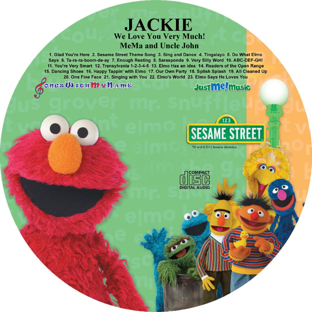 SING ALONG WITH ELMO AND FRIENDS - NAME PERSONALIZED CHILDREN - CD DISK & DIGITAL MP3