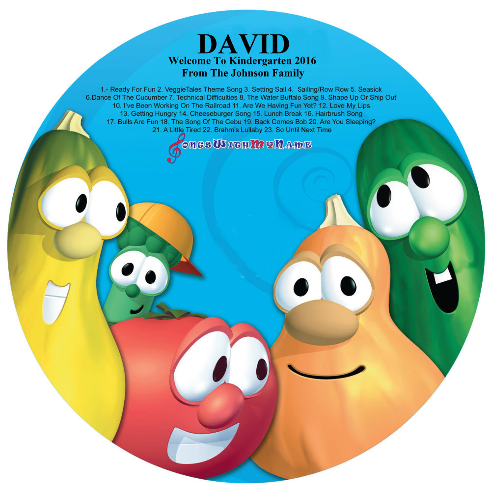 SILLY SONGS WITH VEGGIE TALES Vol 2 - NAME PERSONALIZED CHILDREN - CD DISK & DIGITAL MP3