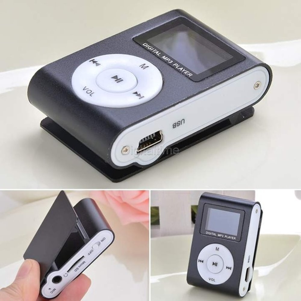 MINI MP3, FM PLAYER LCD DISPLAY RECHARGEABLE (NEEDS 32GB SD-Card - Earphones - Power Cord)