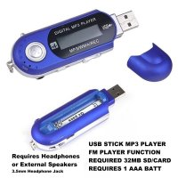 SD Stick MP3 Player